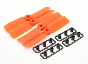 GemFan Bull Nose 3545 GRP/Nylon Propellers CW/CCW Set Orange (2 pairs)