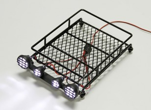 1/10 Roof Rack (Black) with Round Spotlights