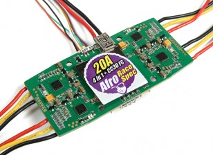 Afro 20A Race Spec 4-in-1 ESC and CC3D Flight Controller