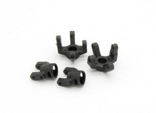 C Bracket and Steering Arm (2pcs) - Basher RockSta 1/24 4WS Mini Rock Crawler