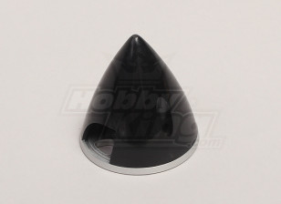Nylon Spinner with Alloy Backplate 45mm Black