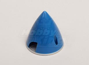 Nylon Spinner with Alloy Backplate 57mm Blue