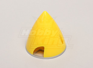 Nylon Spinner with Alloy Backplate 63mm Yellow