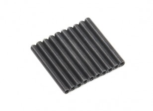 Screw Grub Hex M3x26mm Machine Thread Steel Black (10pcs)