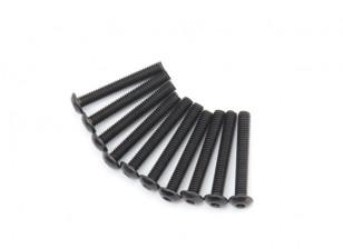 Screw Button Head Hex M4 x 28mm Machine Steel Black (10pcs)