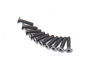 Screw Countersunk Hex M2 X 8mm Machine Steel Black (10pcs)