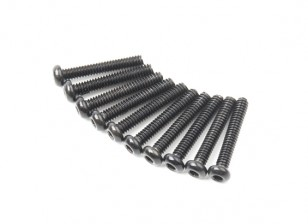 Screw Button Head Hex M2 X 12mm Machine Steel Black (10pcs)