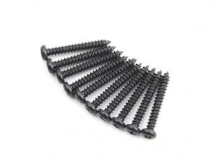 Screw Button Head Phillips M2.5x18mm Self Tapping Steel Black (10pcs)