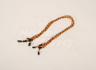 Twisted 60CM Servo Lead Extention (JR) 22AWG (5pcs/bag)