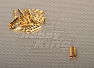 Polymax 4mm Gold Connectors (10pairs/set)