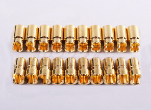 HXT 6mm Sprung Gold Connectors (10pair/20pc)