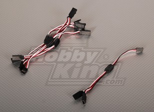 Futaba Y Servo Lead 15cm Length (5pcs/bag)