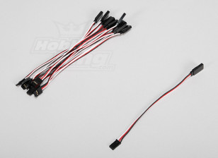 15cm Servo Lead Extention (Futaba) 26AWG (10pcs/set)