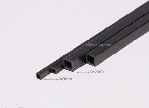 Carbon Fiber Square Tube 750x6mm