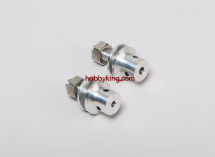Prop adapter w/ Steel Nut 1/4x28-3.2mm shaft (Grub Screw Type)