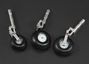 Alloy Oleo Strut set w/wheels for 90mm/1.20 Class Jet