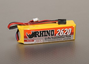 Rhino 2620mAh 3S 11.1v Low-Discharge Transmitter Lipoly Pack