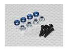 Color Servo Mounting Screw Set (blue)