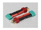 T-Connector to MPX Connector Battery Adapter Lead(2pcs)