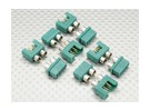 MPX Connector with Silver Color Ring, Male and Female (5pairs)