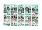 Self Adhesive Decal Sheet - Decoration logo 1/10 Scale