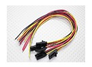 3 pin male Molex plug with yellow/red/black 20cm with PVC 26AWG wire(5pcs/bag)