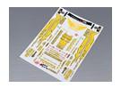 Self Adhesive Decal Sheet - Toyota Drift 1/10 Scale