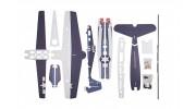 H-King F6F Hellcat - Glue-N-Go - 5mm Foamboard PP 975mm (Kit) - kit
