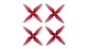 Team RaceKraft 3041 Q4CS 4 Blade Props - Clear Red