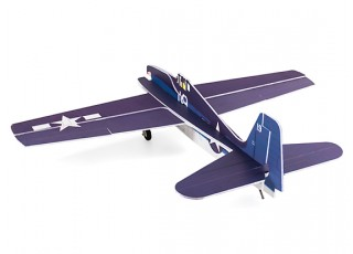 H-King F6F Hellcat - Glue-N-Go - 5mm Foamboard PP 975mm (Kit) - rear view