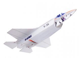 H-King F-35 - Glue-N-Go - Foamboard PP 650mm (Kit) - side bottom view