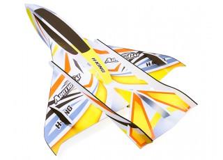 H-King Arctic Cat Water Plane - Glue-N-Go - Foamboard PP 820mm Yellow (Kit) - top