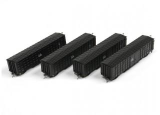 P64K Box Car (Ho Scale - 4 Pack) Black all 4
