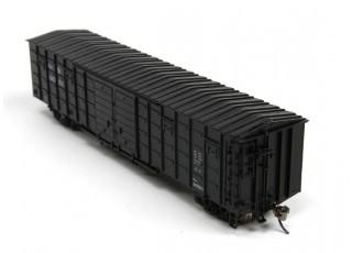 P64K Box Car (Ho Scale - 4 Pack) Black Set 2 rear