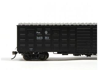 P64K Box Car (Ho Scale - 4 Pack) Black Set 2 / 1