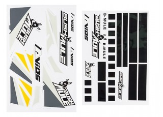 Avios BushMule - Sticker Set (Yellow/Grey)   HobbyKing