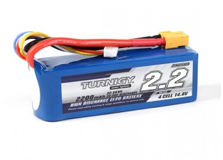Turnigy 2200mAH 4S 20C Lipoly Pack w/ XT60 Connector