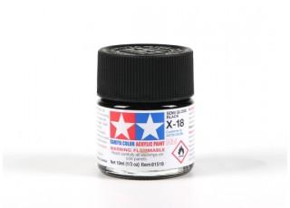 Tamiya X-18 Gloss Black Acrylic Paint (10ml)
