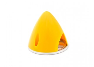Nylon Spinner with Alloy Backplate 38mm Yellow (5mm Mounting Hole)