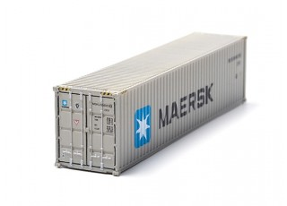 HO Scale 40ft Shipping Container (MAERSK)) rear view