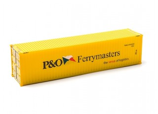 HO Scale 40ft Shipping Container (P&O Ferrymasters) side view