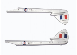 Durafly™ D.H.100 Vampire V2 RCAF - Replacement Tail Boom Set