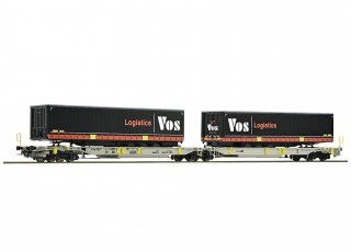 Roco HO Articulated Double Pocket Container Wagon AAE AG (VOS Logistics)