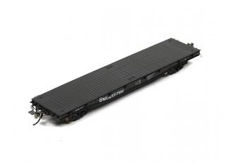 NX17K Flat Car (HO Scale - 4 Pack) Set 3 side view