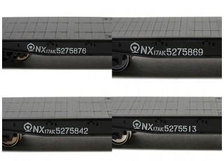 NX17K Flat Car (HO Scale - 4 Pack) Set 4 Lettering detail