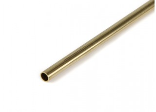 "K&S Precision Metals Brass Round Stock Tube 3/16"" OD x 0.014 x 36"" (Qty 1)"