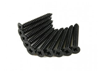 Screw Flat Head Phillips M2.6x20mm Self Tapping Steel Black (10pcs)