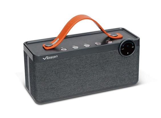 Vidson V6 Portable Intelligent Bluetooth Stereo Speaker With Calls/AUX/TF - GRAY