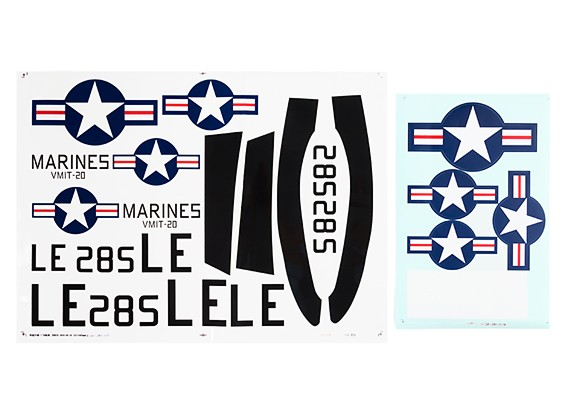 Durafly™ T-28 Trojan 1100mm V2 - US Navy Decal Set