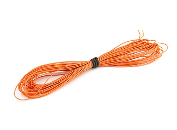 Turnigy High Quality 30AWG Silicone Wire 10m (Orange)
